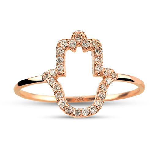 Hamsa Diamond Ring