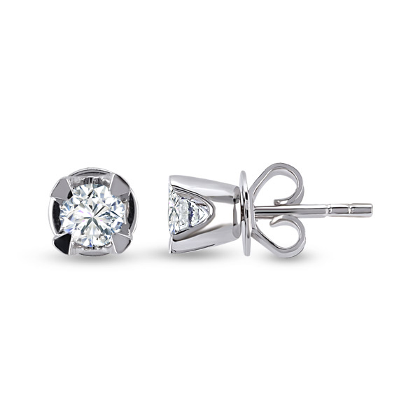Forevermark Solitaire Diamond Earstud