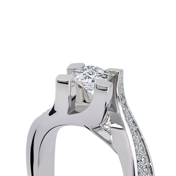 0.55 ct Solitaire Engagement Ring