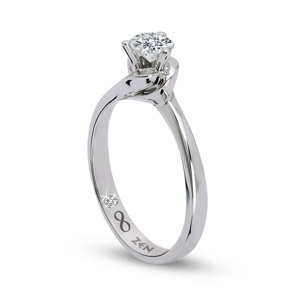 0.16 ct Solitaire Engagement Ring