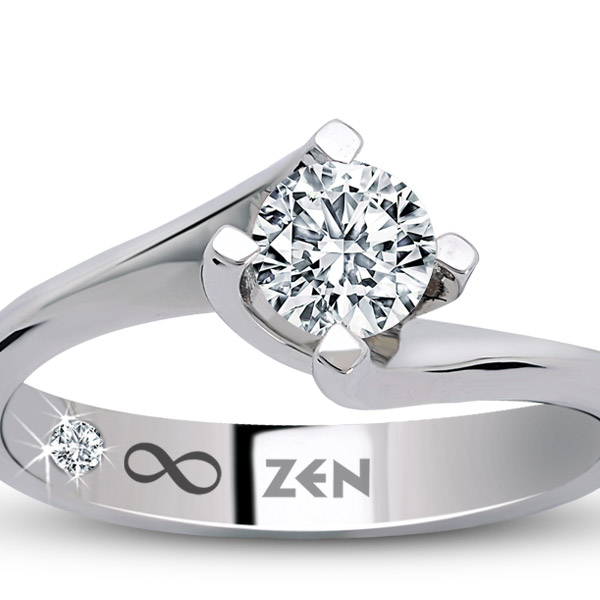 0.09 ct Solitaire Engagement Ring