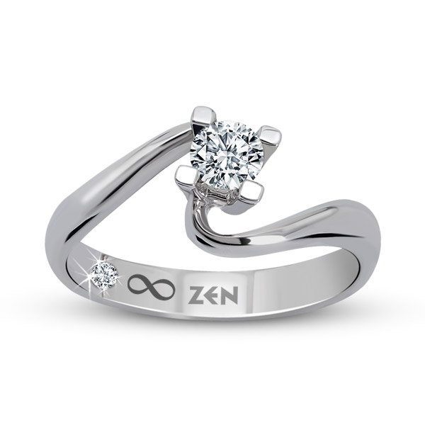 0.13 ct Solitaire Engagement Ring