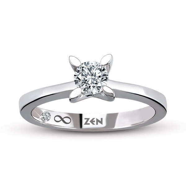 0.24 ct Solitaire Engagement Ring