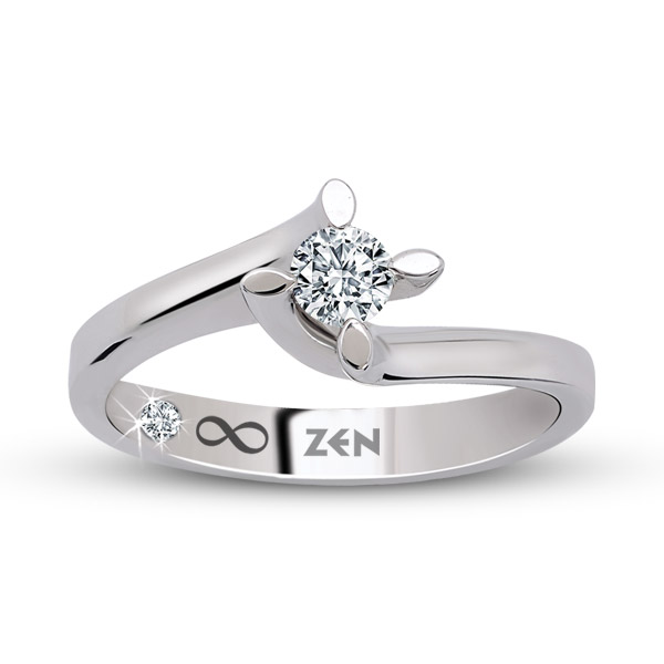 0.08 ct Solitaire Engagement Ring