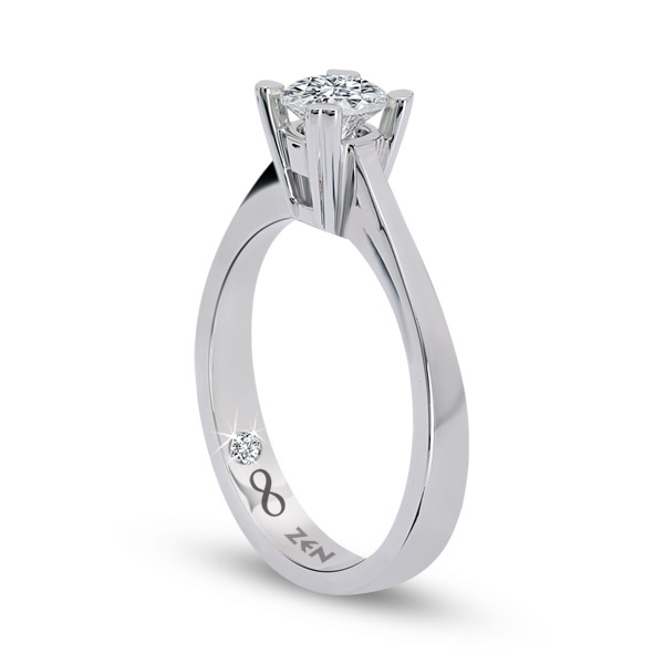 0.14 ct Solitaire Engagement Ring