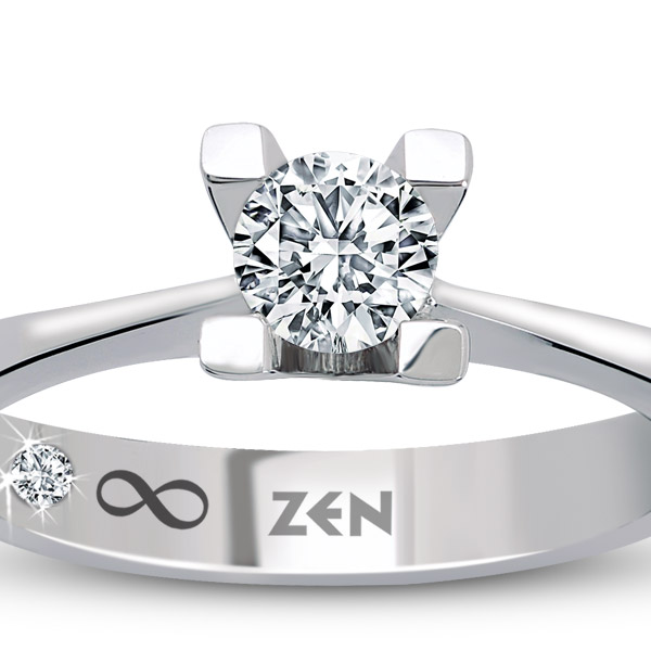 0.12 ct Solitaire Engagement Ring