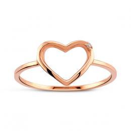 Heart Diamond Ring