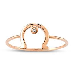 Horseshoe Diamond Ring