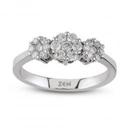 Reina Tria Diamond Ring